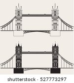 England Bridge. Vector...