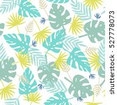 Exotic Leaves Pattern. Vector...