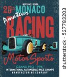 vintage vector race poster | Shutterstock .eps vector #527783203