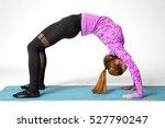 woman practicing yoga.yoga