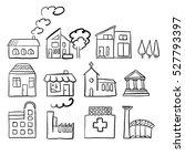 various house types  fast... | Shutterstock .eps vector #527793397