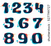 numbers set logos with... | Shutterstock .eps vector #527799727