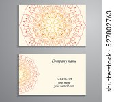 business card. vintage... | Shutterstock .eps vector #527802763