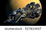 3d rendering of a spaceship... | Shutterstock . vector #527813437