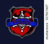 police badge illustration... | Shutterstock .eps vector #527817607