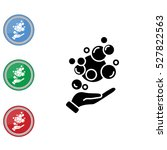 web icon. bubbles in the hand ... | Shutterstock .eps vector #527822563