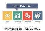 best practice   icon  set | Shutterstock .eps vector #527825833