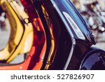 scooter parked by the wall in... | Shutterstock . vector #527826907