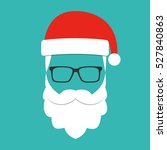 santa claus with beard ... | Shutterstock .eps vector #527840863