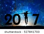 2017  silhouette of a woman... | Shutterstock . vector #527841703