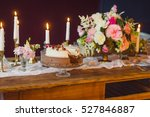 naked cake decorated with fruit ... | Shutterstock . vector #527846887