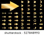 arrow vector gold curve line up ... | Shutterstock .eps vector #527848993