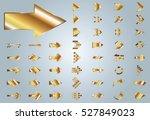 arrow vector gold curve line up ... | Shutterstock .eps vector #527849023