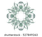 abstract fractal with green... | Shutterstock . vector #527849263
