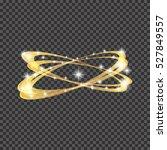 light effect gold vector circle.... | Shutterstock .eps vector #527849557