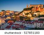 lisbon. image of lisbon ... | Shutterstock . vector #527851183