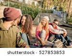 group of urban style friends... | Shutterstock . vector #527853853