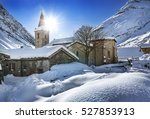 old village bonneval sur arc in ... | Shutterstock . vector #527853913