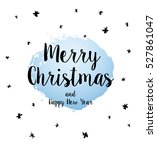 christmas greeting card. merry... | Shutterstock .eps vector #527861047