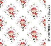 vector christmas seamless...   Shutterstock .eps vector #527861293