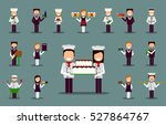 vector set of different chefs... | Shutterstock .eps vector #527864767