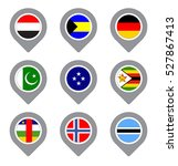set of flag map point isolated... | Shutterstock .eps vector #527867413