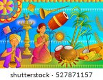 vector illustration of happy... | Shutterstock .eps vector #527871157