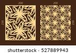 laser cutting set. woodcut... | Shutterstock .eps vector #527889943