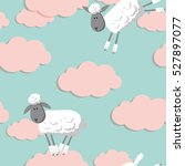 Seamless Pattern With Sheep...
