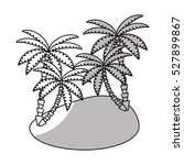 isolated palm tree design | Shutterstock .eps vector #527899867