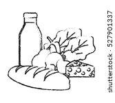 milk vegetables fruits and... | Shutterstock .eps vector #527901337