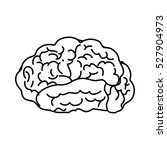 human brain mind icon vector... | Shutterstock .eps vector #527904973