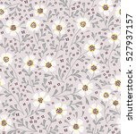 cute floral pattern in the... | Shutterstock .eps vector #527937157