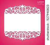 laser cut paper lace frame ... | Shutterstock .eps vector #527940823