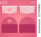 laser cut wedding invitation or ... | Shutterstock .eps vector #527940883