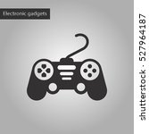 black and white style icon game ... | Shutterstock .eps vector #527964187