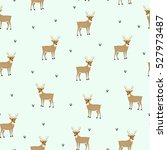 Christmas Pattern With Deers....