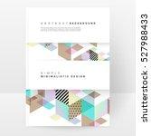 geometric background template... | Shutterstock .eps vector #527988433