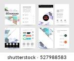 geometric background template... | Shutterstock .eps vector #527988583