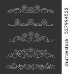 vector text dividers with white ... | Shutterstock .eps vector #527994523