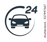 car service  24 hours  call... | Shutterstock .eps vector #527997367