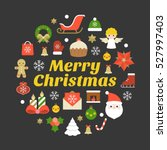 merry christmas typography font ... | Shutterstock .eps vector #527997403