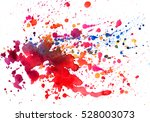 watercolor texture of stains | Shutterstock . vector #528003073