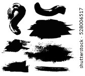 set of black paint  ink brush... | Shutterstock .eps vector #528006517