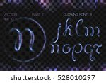glowing font with neon effect | Shutterstock .eps vector #528010297