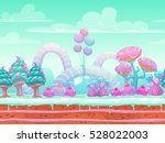 fantasy sweet world... | Shutterstock .eps vector #528022003