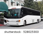 tour bus parked at hotel canopy ... | Shutterstock . vector #528025303