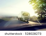 european truck speeding on... | Shutterstock . vector #528028273