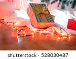new year's gift in a box and... | Shutterstock . vector #528030487