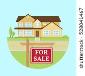house for sale. vector flat... | Shutterstock .eps vector #528041467